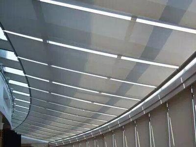 办公会议室天棚帘工程遮阳卷帘