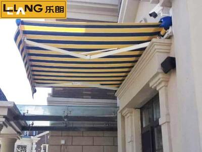 曲臂式伸缩雨棚折叠雨篷