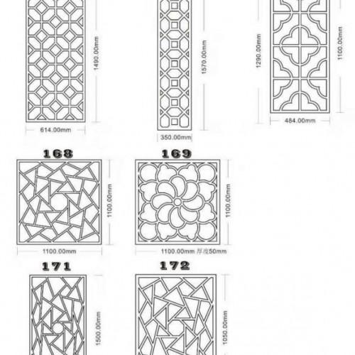 江南混凝土漏窗砌块长方形预制窗户