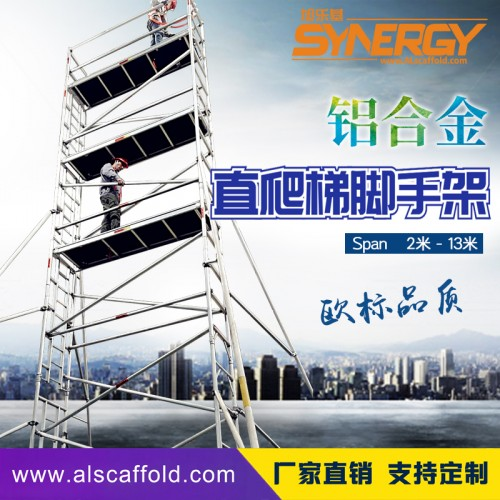 铝合金直爬梯脚手架内爬梯款 高承重欧标品质