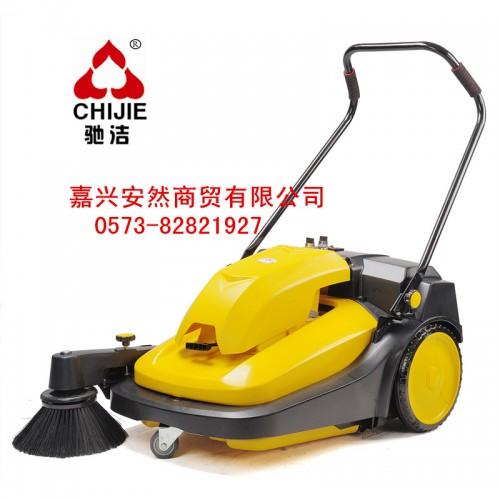 驰洁手推式吸尘清扫车CJS70-1 纺织厂饲料厂灰尘扫地机