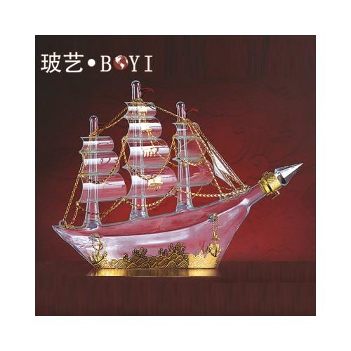 帆船造型酒瓶 专业生产工艺酒瓶 按客户要求加工定制
