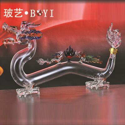 空心龙造型酒瓶 厂家专业生产工艺酒瓶加工定制 玻璃工艺品