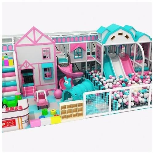 新型室内儿童乐园马卡龙风格 温州儿童乐园设备厂家直销