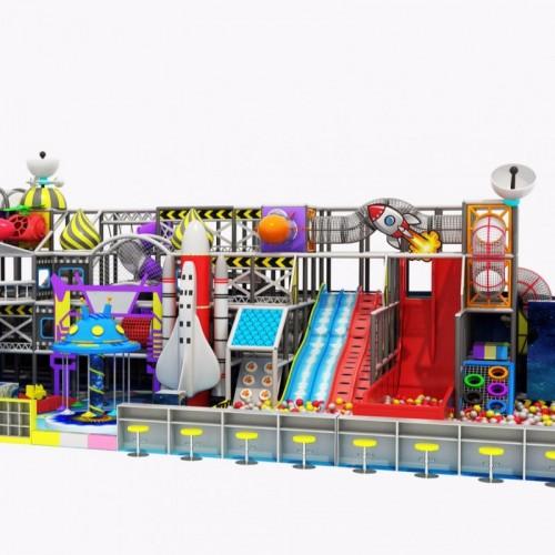 厂家直销室内儿童乐园设备高层淘气堡百万球池魔鬼滑梯软体组合