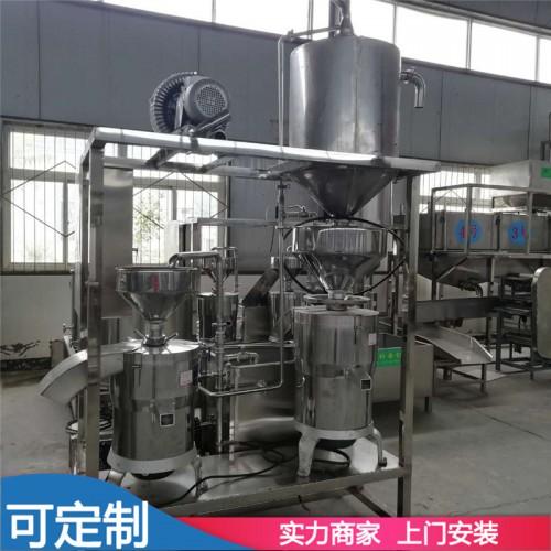 豆制品生产配套三连磨浆机 自动三连磨多少钱一台