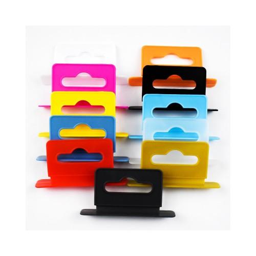 飞机孔纸盒挂钩塑料飞机孔挂钩产品超市挂钩 圆形包装盒彩盒挂钩