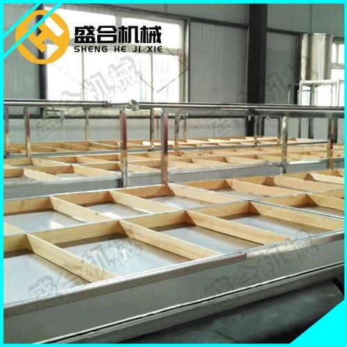 日产三百斤的腐竹机 大型腐竹生产线厂家直销 盛合豆制品设备