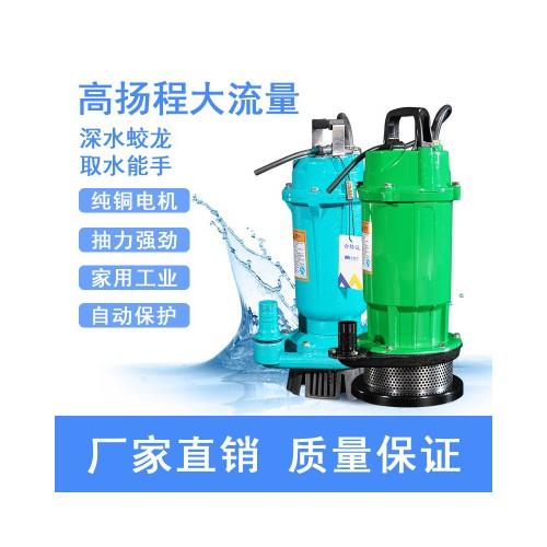 上为单相潜水泵220V家用小型清水泵农用灌溉抽水机