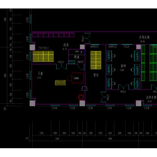 组培室设计图,组培室平面图,组培室CAD图