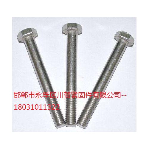 4.8级镀白外六角螺丝Q235B材质30栓