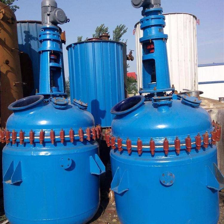 供应二手5-10方搪瓷反应釜、不锈钢内外盘管反应釜