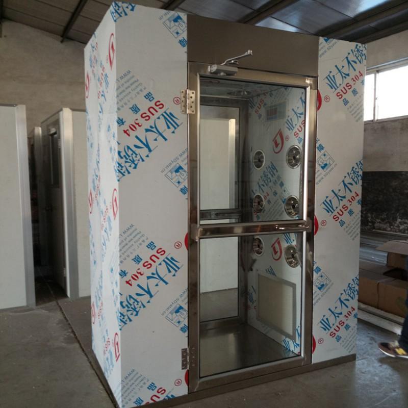 青岛风淋室厂家304不锈钢钢板烤漆彩钢板风淋室定制