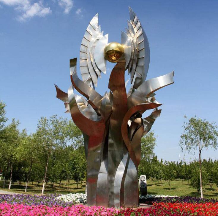 厂家定制城市园林不锈钢艺术塑造可塑性强雕塑摆件