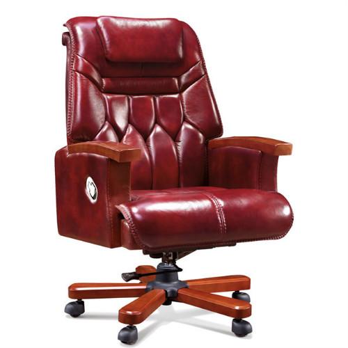 佛山中禧家具批发简约现代牛皮大班椅商务接待会议椅老板办公椅