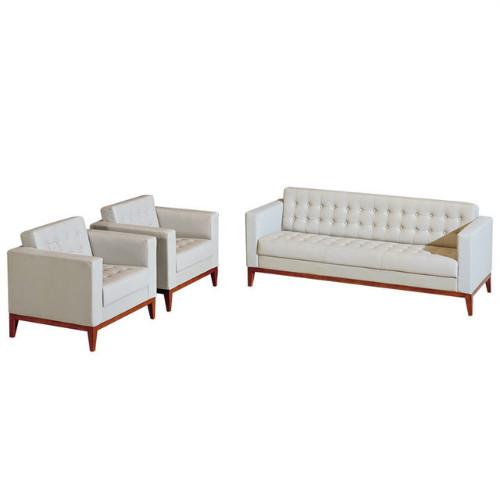 佛山办公室沙发组合商务会客区西皮三人位公司简易沙发多色可选