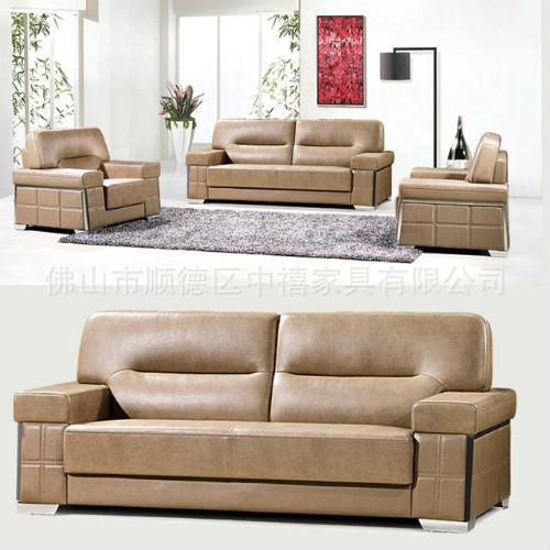 简约小户型pu皮沙发三人现代简约客厅家具皮制办公沙发批发