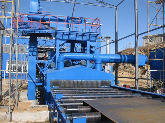 钢板预处理线抛丸机    钢板抛丸机