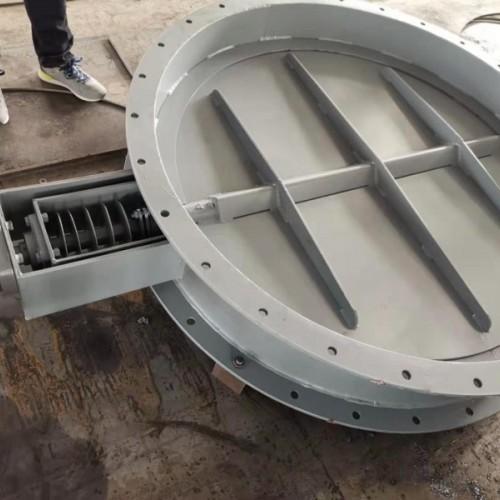 诚铸气动双挡耐腐蚀挡板门 圆形碳钢复合风门