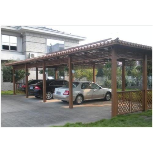 厂家直销 木塑停车棚 木塑亭子 塑木立柱 四川成都木塑