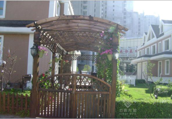 户外木塑木葡萄架 阳台花园花架 木塑园艺 木塑材料