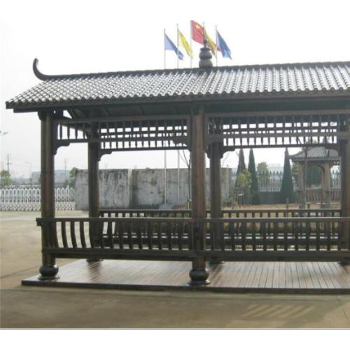 贵州木塑厂家直销 木塑长廊架 定做尺寸户外木塑长廊亭子