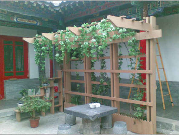 厂家直销 花园廊架 木塑葡萄架 花架木塑长廊 户外塑木葡萄架