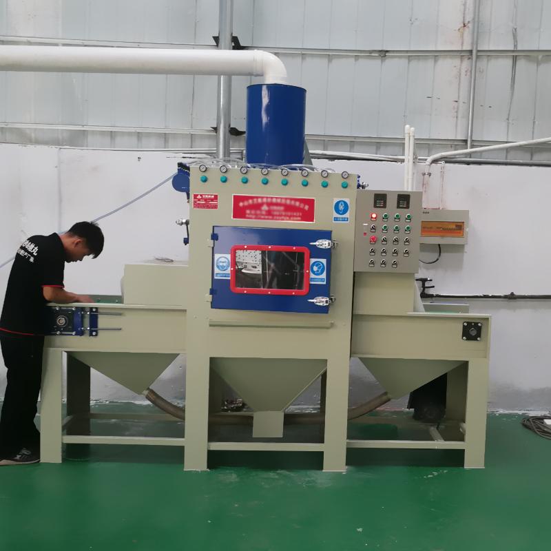 中山喷砂机 挂具翻新除油自动喷砂机