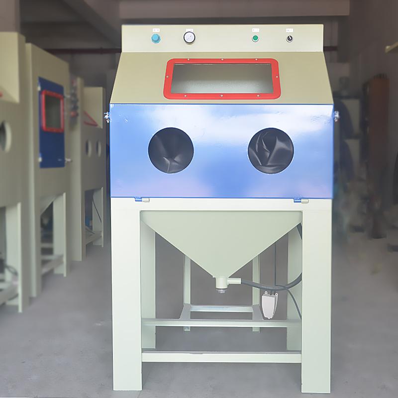 箱式环保喷砂机 铁件翻新除锈手动喷砂机