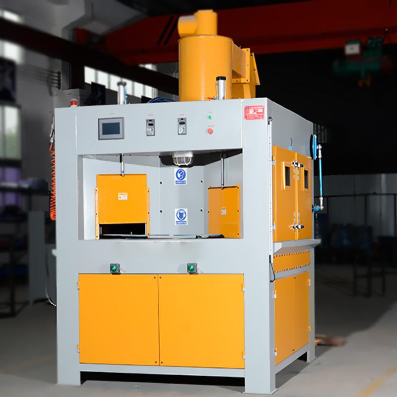 中山喷砂机 汽车配件法兰喷砂处理自动转盘喷砂机