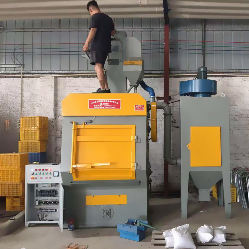 中山抛丸机厂家 五金小工件批量处理326自动抛丸机