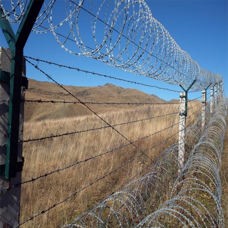 艾瑞厂家直销带刺围墙隔离网、带刺围墙防盗网、刀刺网安全隔离网