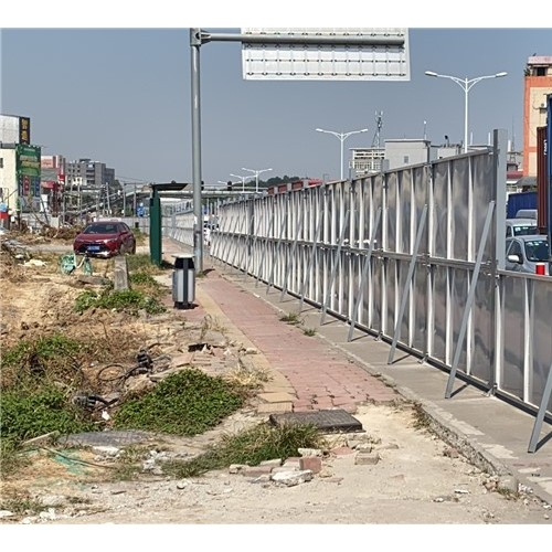 再次出手—三田钢板围墙应用在广花快速路改造工程