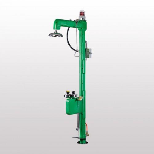 绿色电伴热ABS洗眼器