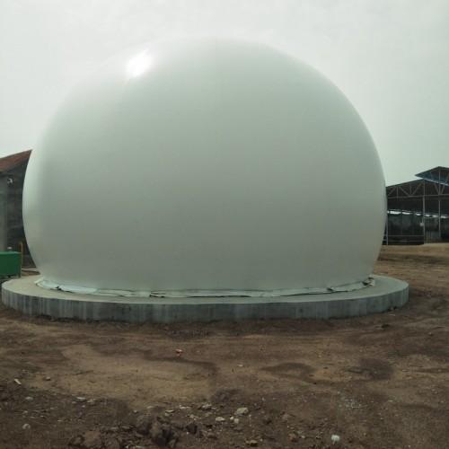 山东双膜气柜厂家 海越膜结构 沼气柜处理污水专业设备 膜气柜