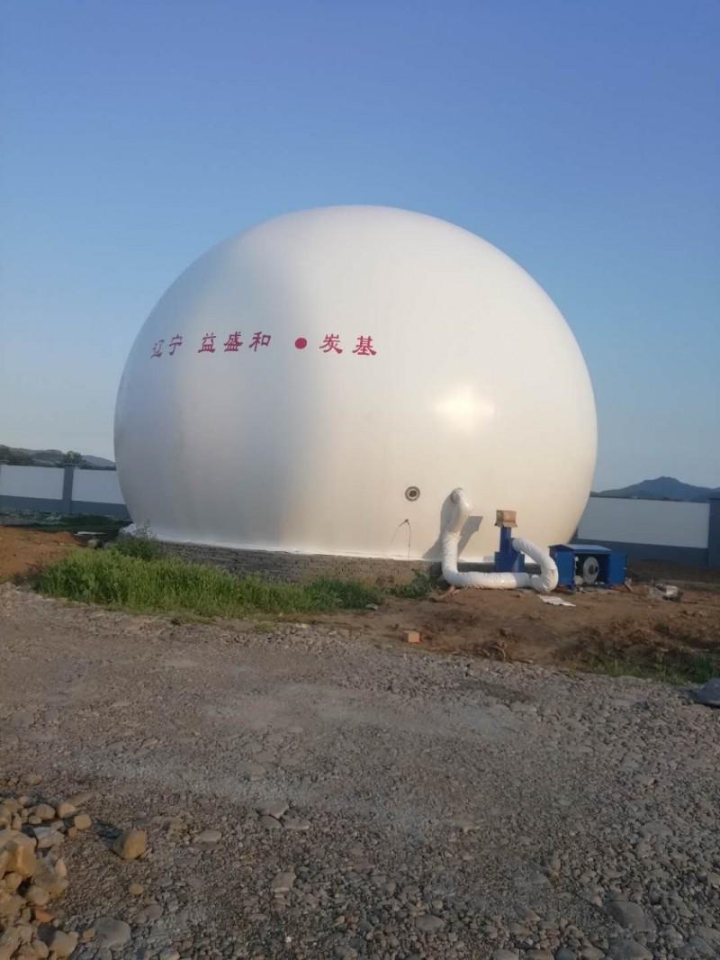 山东青岛海越膜结构 沼气处理设备 双膜沼气柜 规格多样