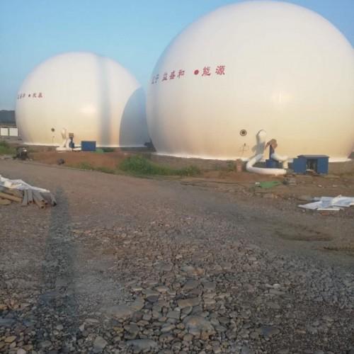 山东青岛海越双膜气柜 安装指导一体式双膜储气柜 十年经验
