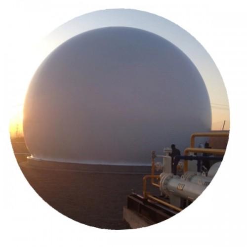 海越双膜气柜一体式双膜储气柜双膜储气柜价格合理