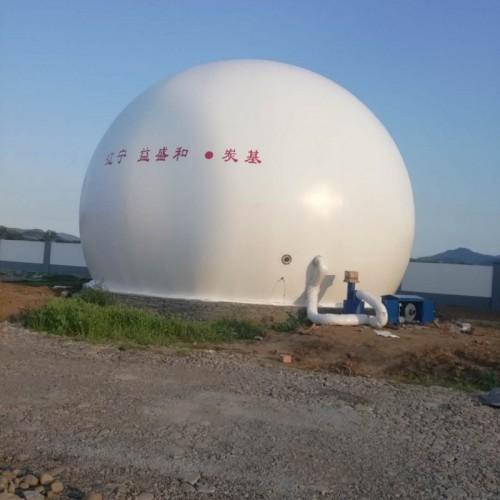 青岛海越双膜气柜 生产厂家直销 独立气柜一体化双层膜气柜