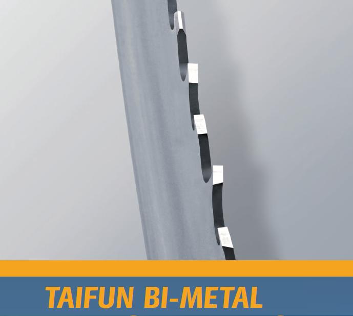 特殊齿形 Taifun 系列带锯条(专利产品)