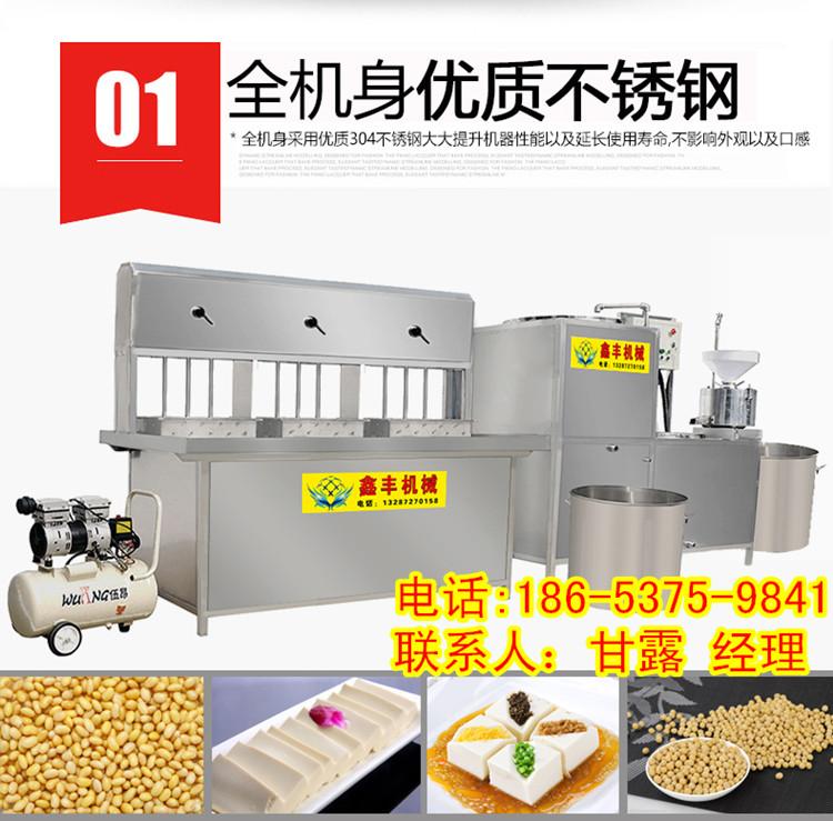豆腐机器设备价格  豆腐一次成型机 鑫丰多功能豆腐皮机厂家