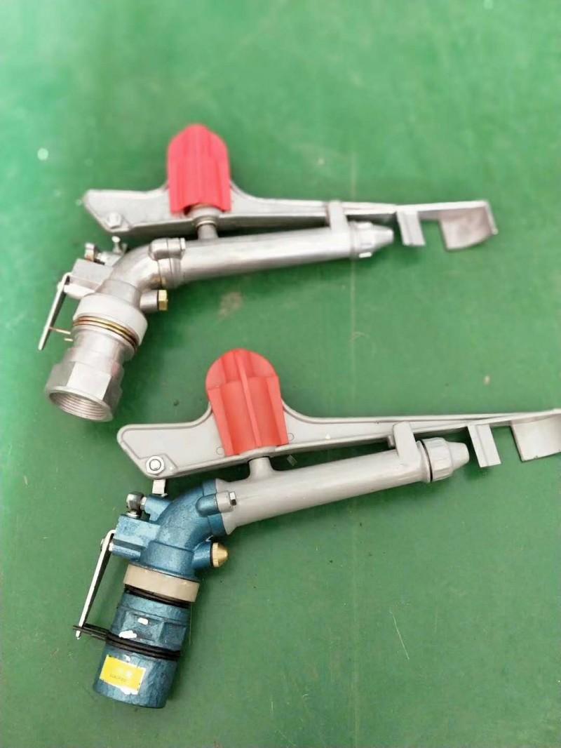 广西节水灌溉设备草坪喷头摇臂喷枪 绿齿轮喷枪