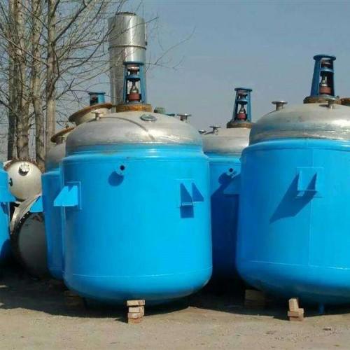 出售二手不锈钢反应釜 搪瓷反应釜 树脂反应釜 内盘管反应釜