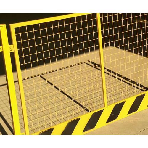 网片基坑临边护栏 楼层施工安全门 基坑防护护栏价格