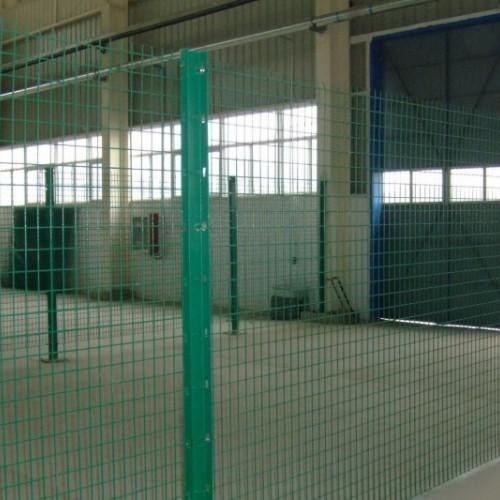 车间隔离网 低碳钢丝边框护栏网 仓库护栏网颜色可选