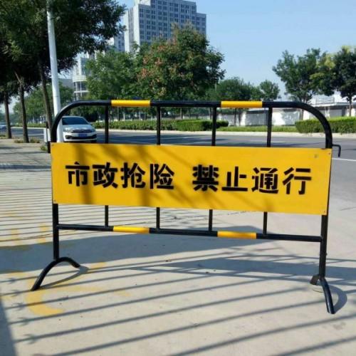 移动铁马护栏 黑黄铁马护栏 工地围栏 工地可移动铁马护栏