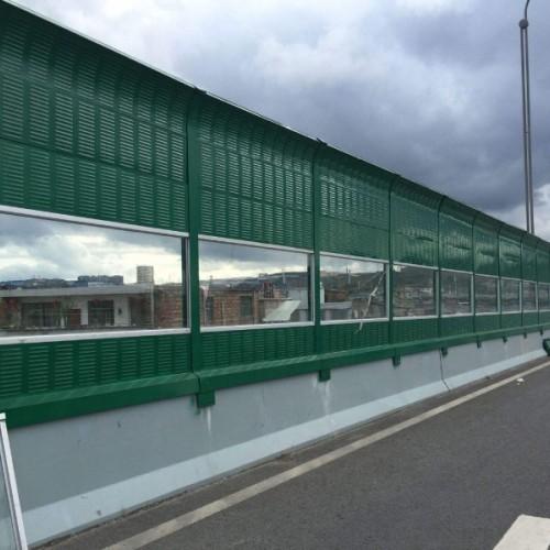 定制铁路声屏障 高速公路定制隔音屏 小区冷却塔声屏障隔音屏