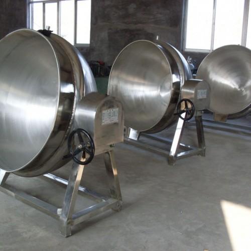 出售闲置二手搅拌式夹层锅 二手不锈钢夹层锅