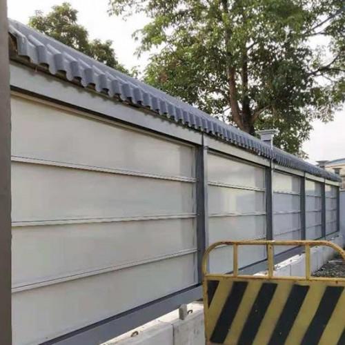 登峰轻钢结构施工围挡板安装