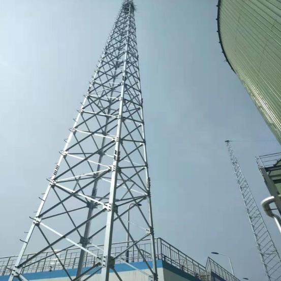 四柱角钢避雷塔、单管避雷针-林东保用30年